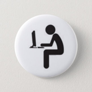 Computer User Icon 6 Cm Round Badge