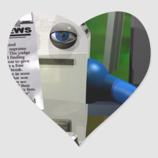 Computer Worker Heart Sticker