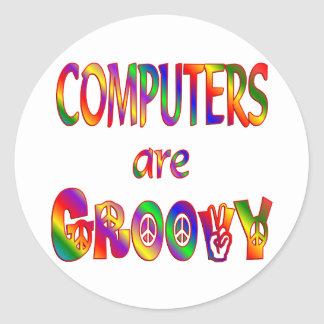 Computers are Groovy Sticker