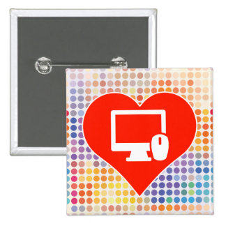 Computers Gift 15 Cm Square Badge