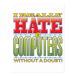 Computers Hate Face Post Card