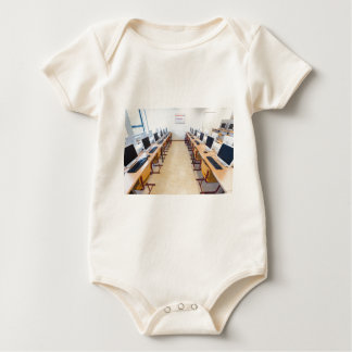 Computers in classroom of dutch education baby bodysuit