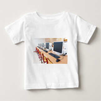 Computers in classroom on high school baby T-Shirt