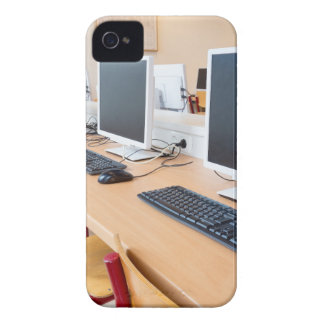 Computers in classroom on high school Case-Mate iPhone 4 case