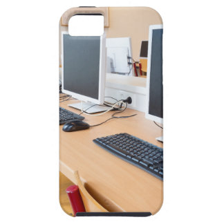 Computers in classroom on high school tough iPhone 5 case