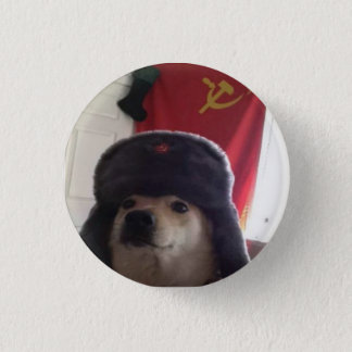 Comrade Doge the Communist Doggo Pupper 3 Cm Round Badge