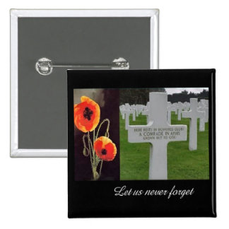 Comrade In Arms Remembrance Day Button
