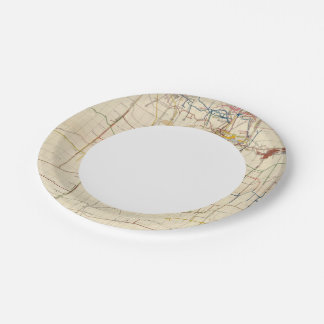 Comstock Mine Maps Number VI 7 Inch Paper Plate