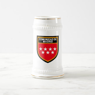 Comunidad de Madrid Flag Beer Stein