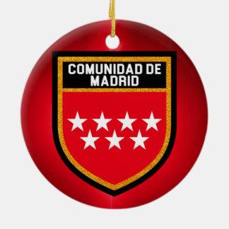 Comunidad de Madrid Flag Ceramic Ornament