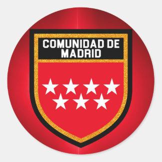 Comunidad de Madrid Flag Classic Round Sticker
