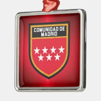Comunidad de Madrid Flag Metal Ornament
