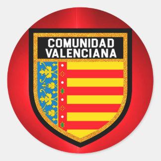 Comunidad Valenciana Flag Round Sticker