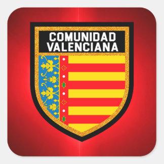 Comunidad Valenciana Flag Square Sticker
