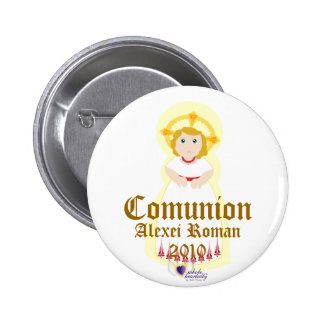"""Comunion"" Button- Customize 6 Cm Round Badge"