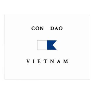Con Dao Vietnam Alpha Dive Flag Postcards