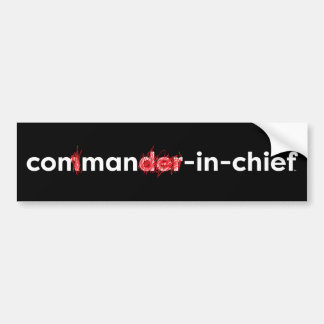 Con Man In Chief Bumper Sticker