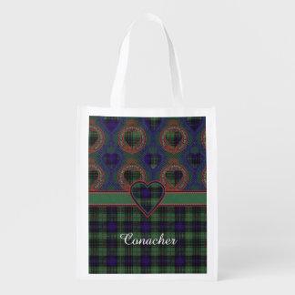Conacher clan Plaid Scottish kilt tartan Market Tote