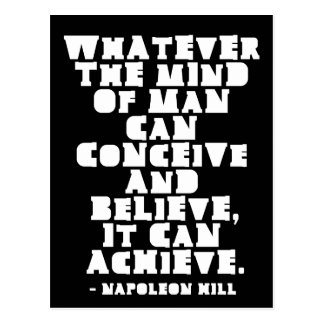 Conceive, Believe, Achieve - Motivational quote Postcard