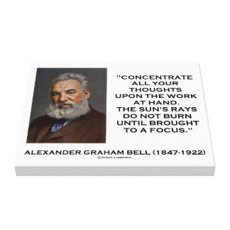 Concentrate All Your Thoughts Upon Work Bell Quote Canvas Print