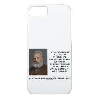 Concentrate All Your Thoughts Upon Work Bell Quote iPhone 8/7 Case