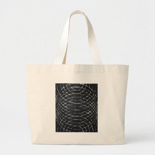 Concentric Black Ripples (black minimalism) Bags