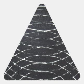 Concentric Black Ripples (black minimalism) Triangle Sticker