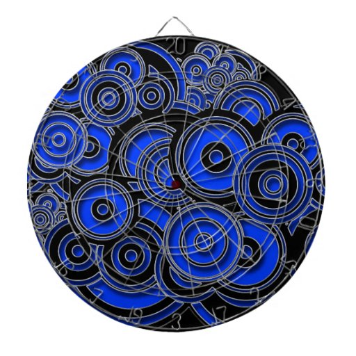 Concentric Blue Circles Dart Boards