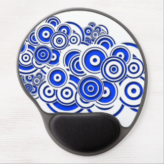 Concentric Blue Circles Gel Mousepad