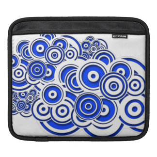 Concentric Blue Circles Sleeves For iPads