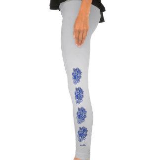 Concentric Blue Circles Legging