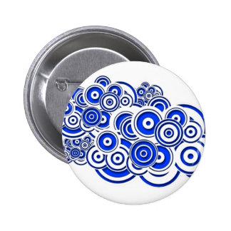 Concentric Blue Circles Pin