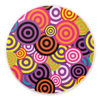 Concentric Circles #2 Ceramic Knob