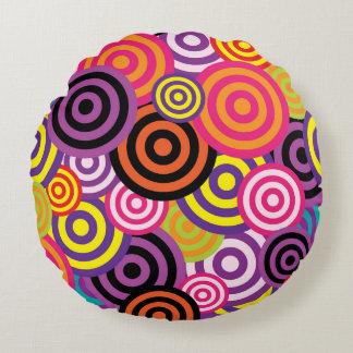 Concentric Circles #2 Round Cushion