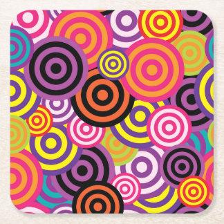 Concentric Circles #2 Square Paper Coaster