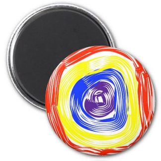 Concentric circles 6 cm round magnet
