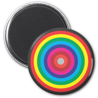 concentric circles colored target 6 cm round magnet