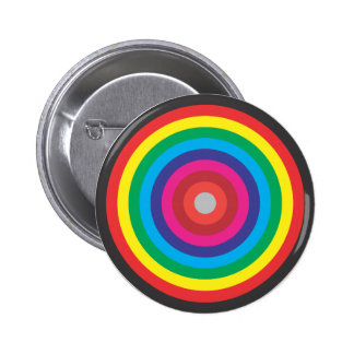 concentric circles colored target button