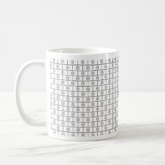 Concentric Circles Coffee Mugs