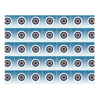 Concentric Circles on Blue Background Postcard