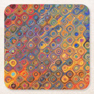 Concentric Circles Square Paper Coaster