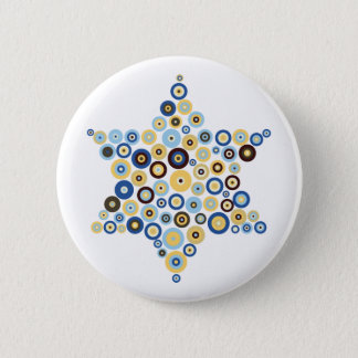 Concentric Circles Star of David Button
