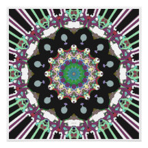 Concentric Geometric Abstract Poster