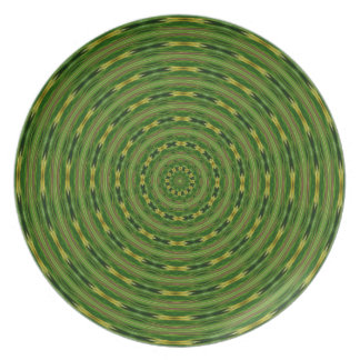 Concentric green circles plate