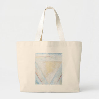 Concentric Inverted White Equilateral Triangles Large Tote Bag