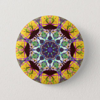 Concentric Lines of Color 6 Cm Round Badge