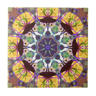 Concentric Lines of Color Ceramic Tile
