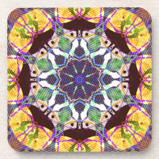 Concentric Lines of Color Coaster