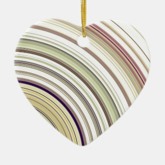 Concentric Rings Abstract Ceramic Ornament