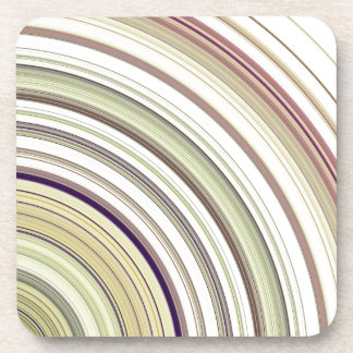 Concentric Rings Abstract Coaster